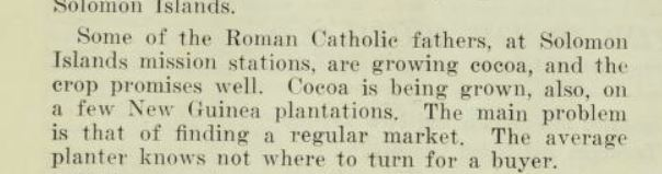 Cocoa Solomons PIM July 1933